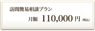 訪問簡易相談プラン 月額100,000円(税別)