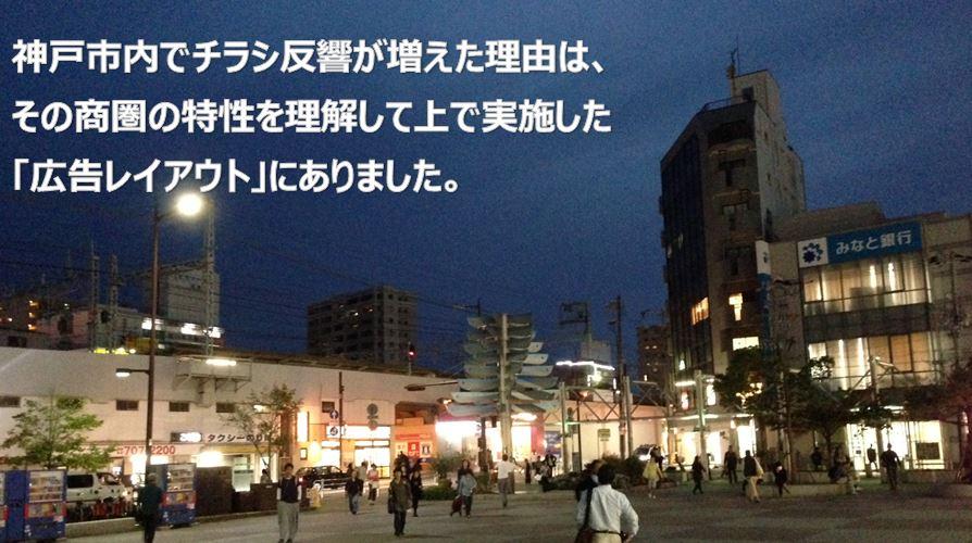 神戸市内でチラシ反響が増えた理由は、その商圏の特性を理解して上で実施した広告レイアウト