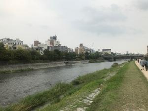 2017年9月京都鴨川沿い