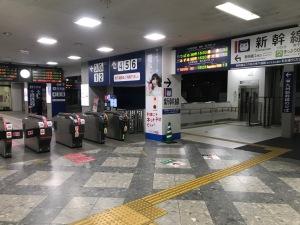 2017.10熊本駅在来線改札
